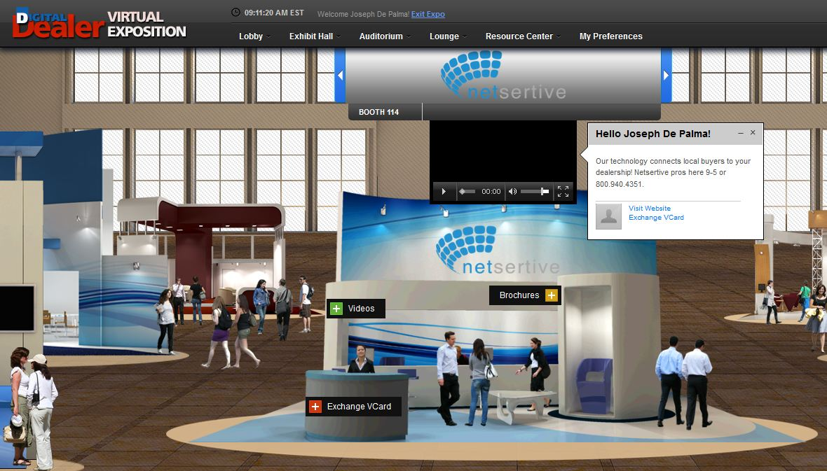The Exhibit Hall will showcase exhibitors presenting product information, video offer live chat and more.