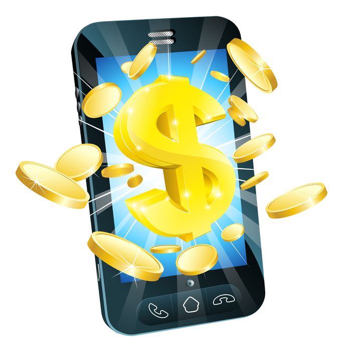 mobile with money