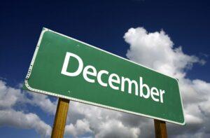 December road sign
