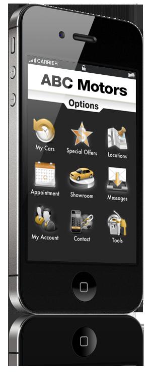ABC Motors iPhone Graphic