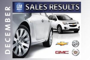 GM December sales