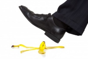 banana peel slip and fall lawsuit hazard risk management
