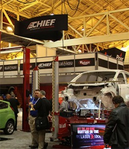 Dealers can see advanced welders, holding equipment and frame measuring systems designed for repairing modern vehicles in the Chief and Elektron booth at the NADA Expo, held Jan. 23-25 in San Francisco.