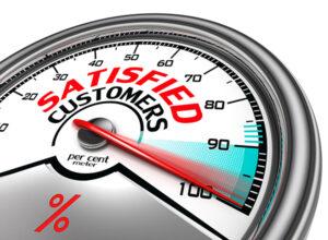 satisfied customers conceptual meter